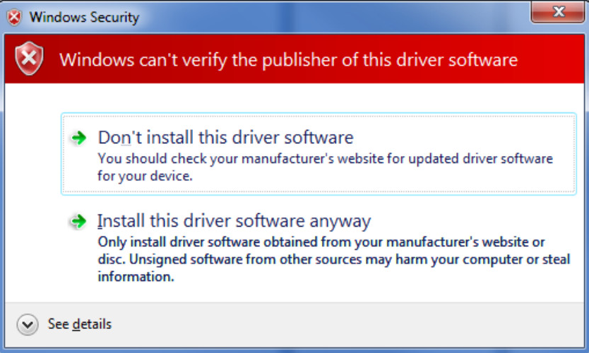 unsigned-software-warning-message