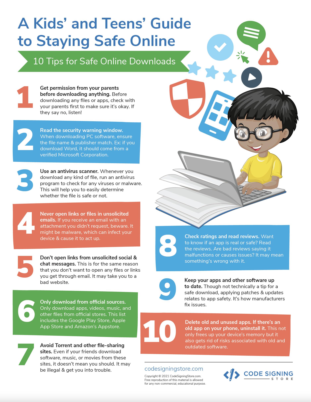 10 tips for safe downloads printout
