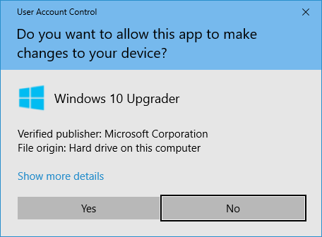 A screenshot of the Windows security popup that allows you to approve or reject an app's ability to make changes to your device
